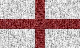 Diseño de concepto de bandera de Inglaterra por la pintura del color en el hormigón Foto de archivo