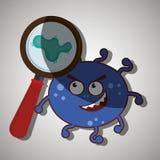 diseño de concepto de la bacteriología ilustración del vector