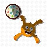 diseño de concepto de la bacteriología stock de ilustración