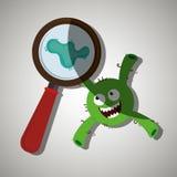 diseño de concepto de la bacteriología libre illustration