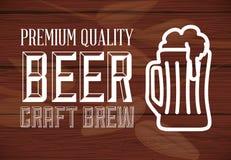 Diseño de concepto de la cerveza Imagen de archivo