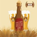 Diseño de concepto de la cerveza Imagenes de archivo