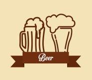 Diseño de concepto de la cerveza Imágenes de archivo libres de regalías