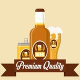 Diseño de concepto de la cerveza Fotografía de archivo