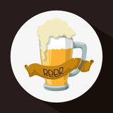Diseño de concepto de la cerveza Fotos de archivo libres de regalías