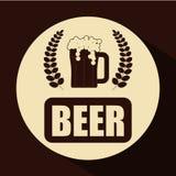 Diseño de concepto de la cerveza Imagen de archivo libre de regalías