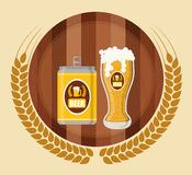 Diseño de concepto de la cerveza Fotografía de archivo libre de regalías