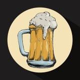 Diseño de concepto de la cerveza Foto de archivo libre de regalías