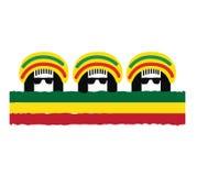 Diseño de concepto de la cultura del reggae libre illustration