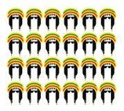 Diseño de concepto de la cultura del reggae stock de ilustración