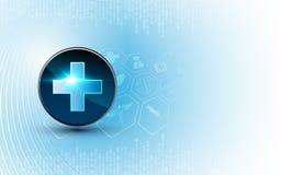 Diseño de concepto de la innovación de la tecnología del fondo médico del vector stock de ilustración