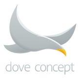 Diseño de concepto de la paloma Imagen de archivo libre de regalías