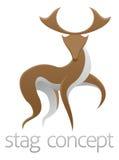 Diseño de concepto de los ciervos del macho Imagen de archivo