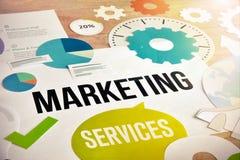 Diseño de concepto de los servicios de márketing Imagen de archivo libre de regalías