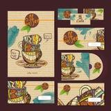 Diseño de concepto del café Template corporativo para las ilustraciones del asunto Imagen de archivo