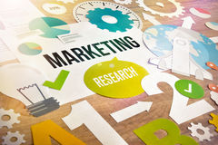 Diseño de concepto del estudio de mercados Foto de archivo libre de regalías