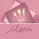 Diseño de concepto del menú del restaurante Imagen de archivo