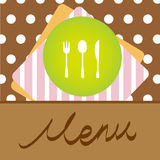 Diseño de concepto del menú del restaurante stock de ilustración