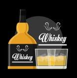 Diseño de concepto del whisky Foto de archivo libre de regalías