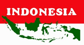 Diseño de concepto geométrico de Indonesia libre illustration