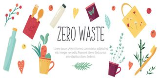 Diseño de concepto inútil cero con los elementos Fotografía de archivo libre de regalías