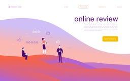 Diseño de concepto de la página web del vector del ‹del ‰ Д ÑƒÑ del ‹Ð?ÐºÑ de Ñ con tema en línea del comentario ilustración del vector