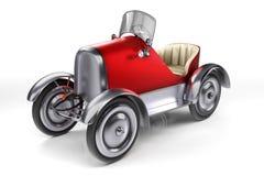 diseño de concepto de la representación 3d de coche retro rojo de los pedales aislado encendido Ilustración del Vector