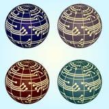 Diseño de concepto de las conexiones de red del globo del vector fotografía de archivo libre de regalías