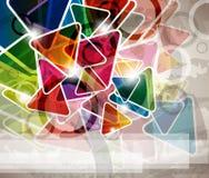 Diseño de concepto multicolor abstracto de los triángulos Imagen de archivo