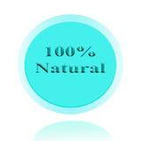 diseño de concepto natural del icono del 100% o de la imagen del símbolo con el negocio f Imágenes de archivo libres de regalías