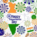 Diseño de concepto para el Día de la Independencia de la India libre illustration