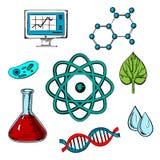 Diseño de concepto plano de la biología Imagen de archivo libre de regalías
