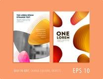 Diseño de cubierta suave de la plantilla del folleto Sistema moderno colorido del extracto, informe anual con las formas para cal libre illustration