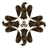 Diseño de cuervo en estilo céltico, escandinavo ilustración del vector