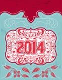 Diseño de 2014 días de fiesta del Año Nuevo Fotos de archivo libres de regalías