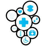 Diseño de Digitaces del fondo médico Fotos de archivo