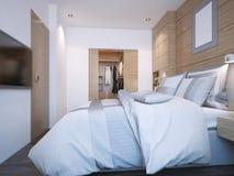 Diseño de dormitorio moderno Imágenes de archivo libres de regalías