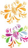 Diseño de dos remolinos - anaranjado y colorido Fotos de archivo