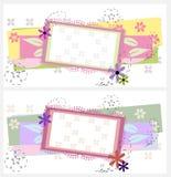 Diseño de dos tarjetas de felicitación Imagen de archivo libre de regalías