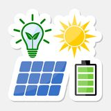 Diseño de energía solar Imagen de archivo libre de regalías
