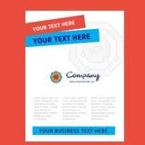 Diseño de enlace químico de la página de título para el perfil de compañía, informe anual, presentaciones, prospecto, fondo del v ilustración del vector