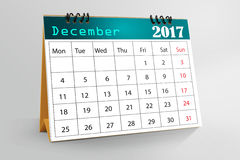Diseño de escritorio 2017 del calendario Fotografía de archivo libre de regalías