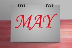 Diseño de escritorio 2017 del calendario Fotos de archivo