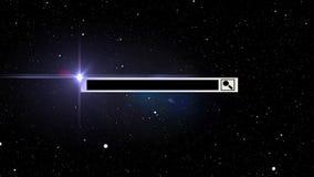 Diseño de espacio de la barra de la búsqueda, estrellas stock de ilustración