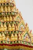 Diseño de estilo tailandés en arte tailandés de la pared del templo Foto de archivo