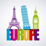 Diseño de Europa ilustración del vector