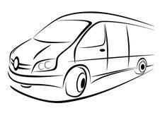 Diseño de furgoneta Fotografía de archivo libre de regalías