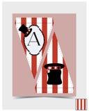 Diseño de golpe ligero - sombrerero Hat del país de las maravillas Fotos de archivo libres de regalías