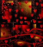 Diseño de Grunge para el día de tarjeta del día de San Valentín Fotografía de archivo