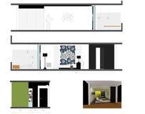 Diseño de habitación Imágenes de archivo libres de regalías